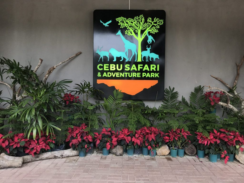 This is the signage of Cebu Safari and Adventure Park in front of the entance.