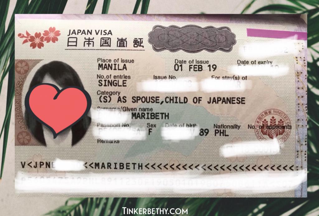 This is my Japan Visa