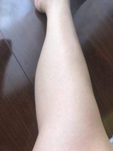 This is my legs after using the Epilat Hair Removing Body Cream. My legs became soft and supple without hair!